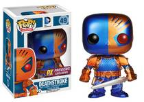 POP HEROES DEATHSTROKE PX VINYL FIG METALLIC