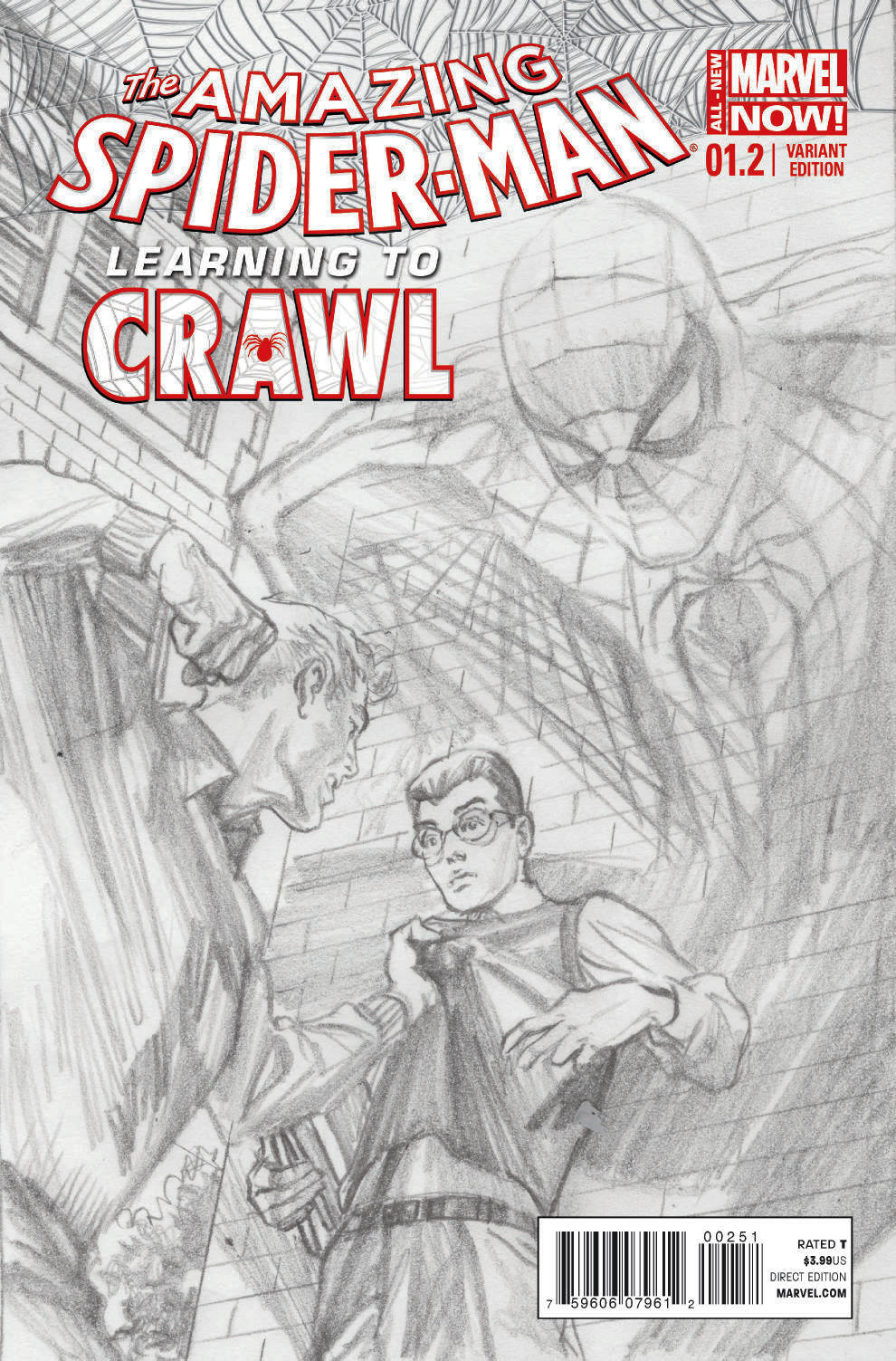 AMAZING SPIDER-MAN #1.2 ROSS SKETCH VAR ANMN