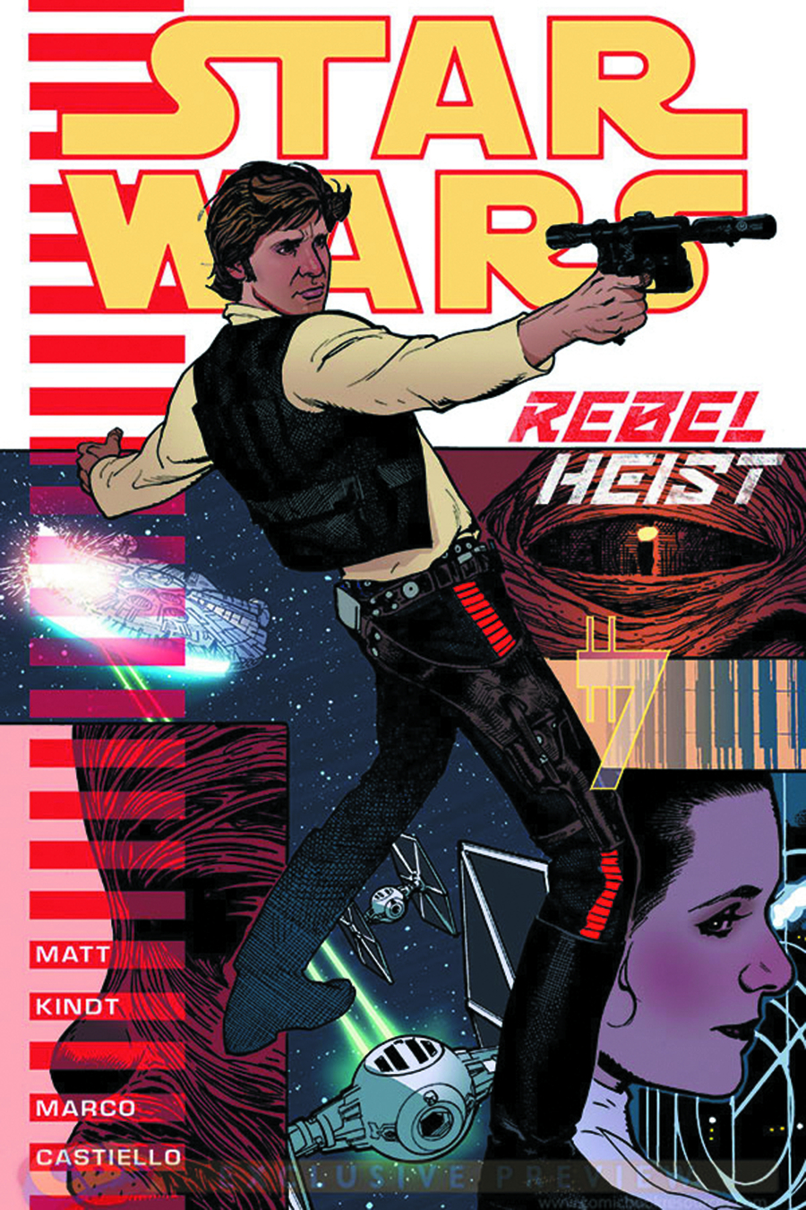 DF STAR WARS REBEL HEIST #1 KINDT SGN