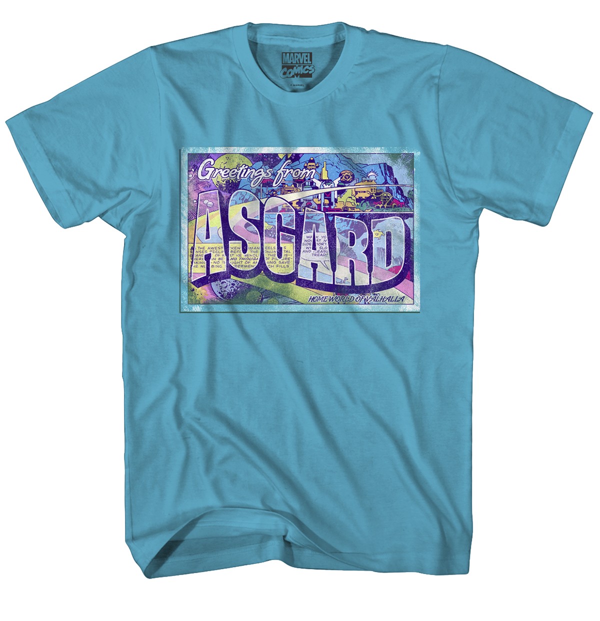 THOR GREETINGS FROM ASGARD TURQ T/S XL