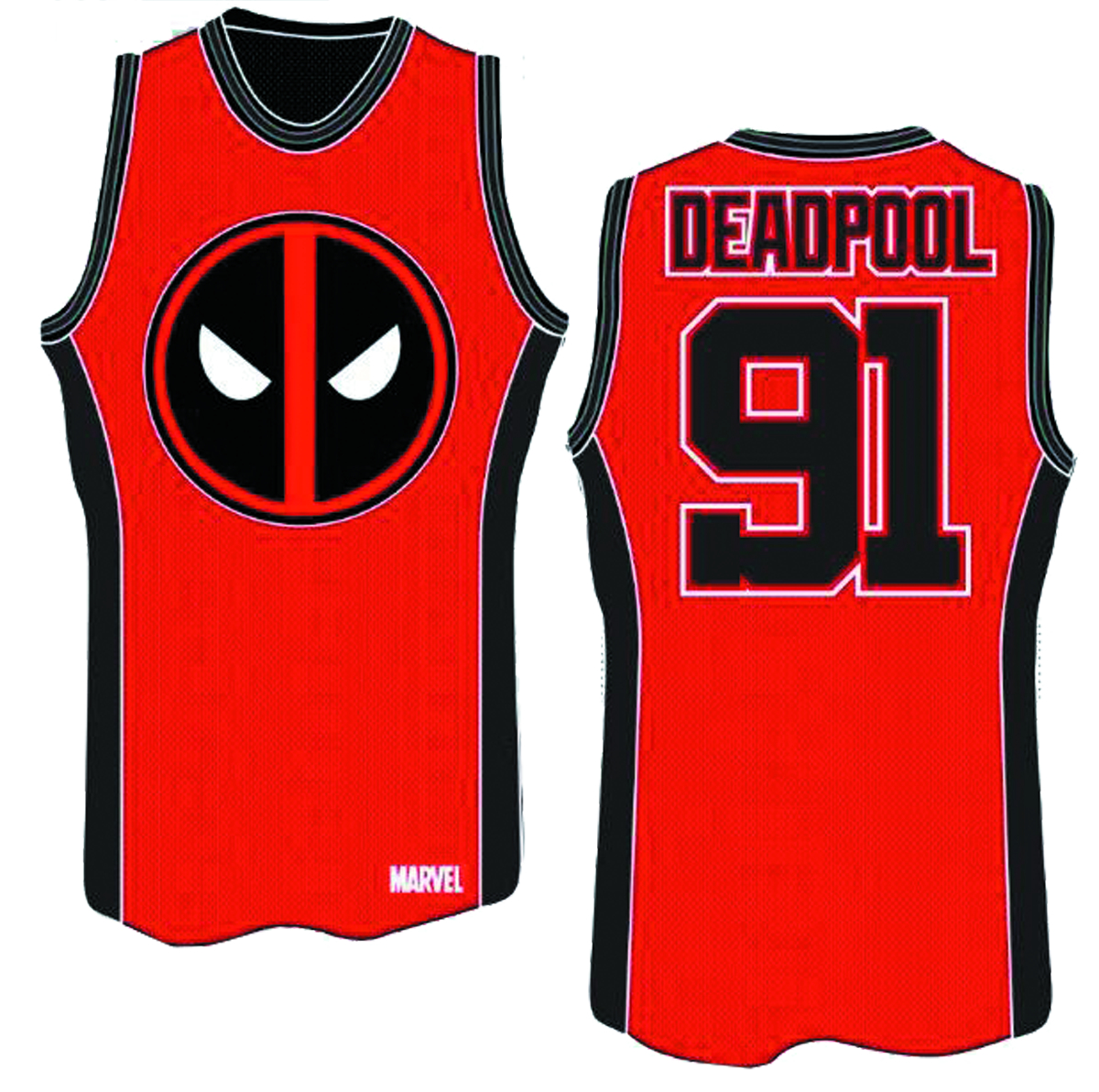 DEADPOOL WADE BASKETBALL JERSEY LG