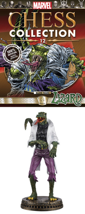 MARVEL CHESS FIG COLL MAG #12 LIZARD BLACK PAWN