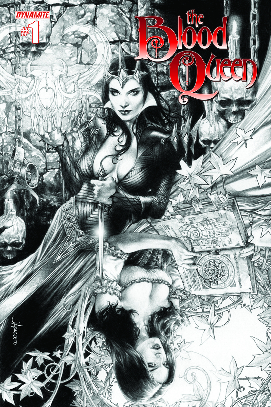 BLOOD QUEEN #1 25 COPY ANACLETO B&W INCV