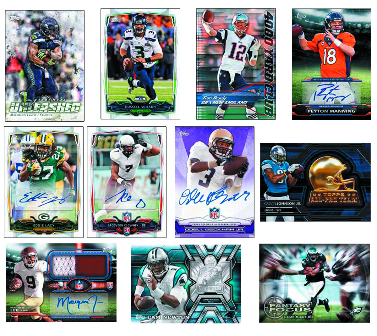 TOPPS 2014 FOOTBALL T/C JUMBO BOX