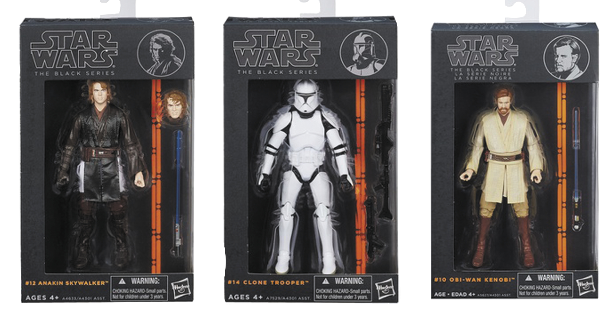 STAR WARS BLACK 6-IN AF ASST 201402