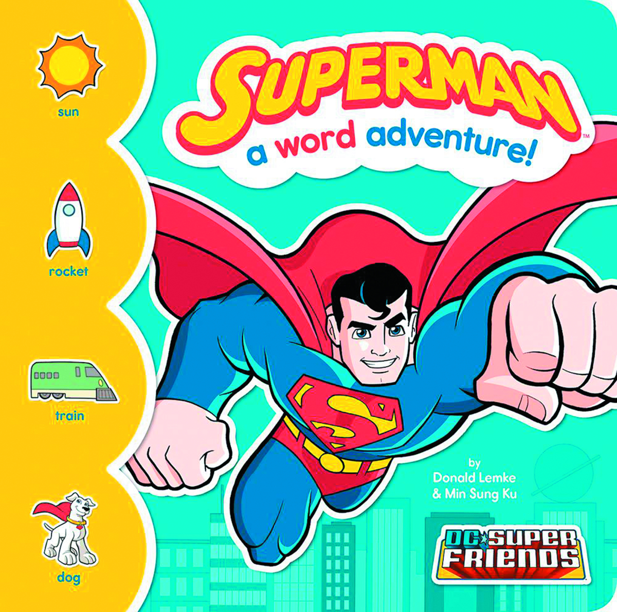 DC SUPER FRIENDS WORD ADV BOARD BOOK SUPERMAN
