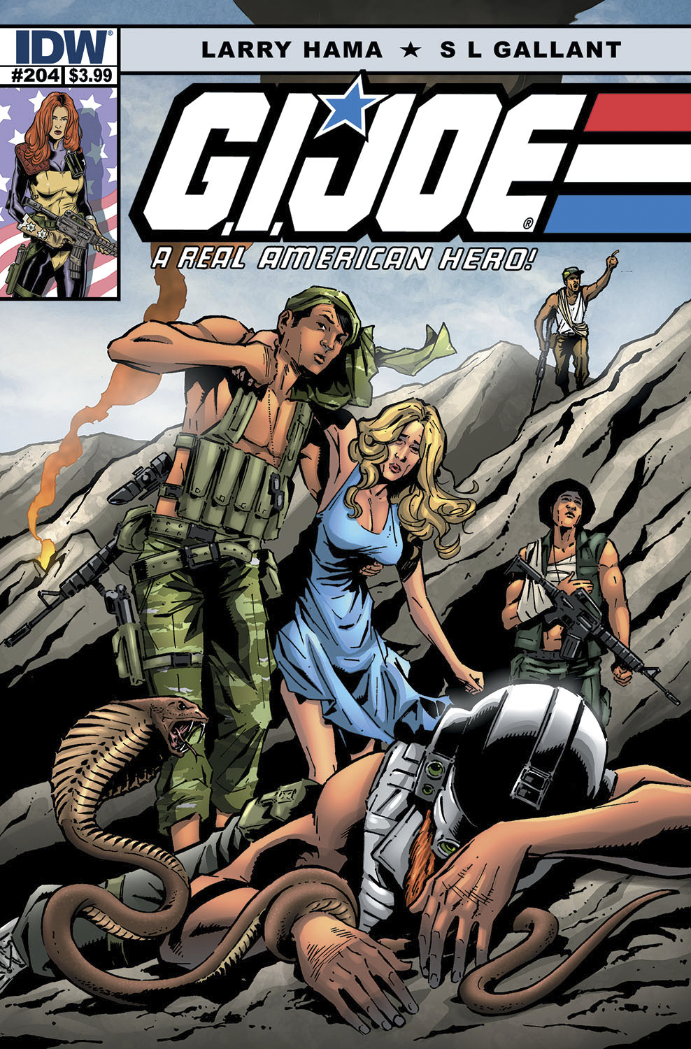 GI JOE A REAL AMERICAN HERO #204 10 COPY INCV