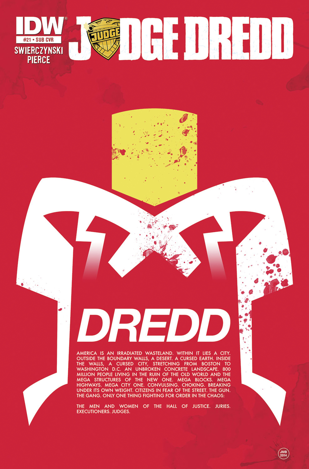 JUDGE DREDD #21 SUBSCRIPTION VAR