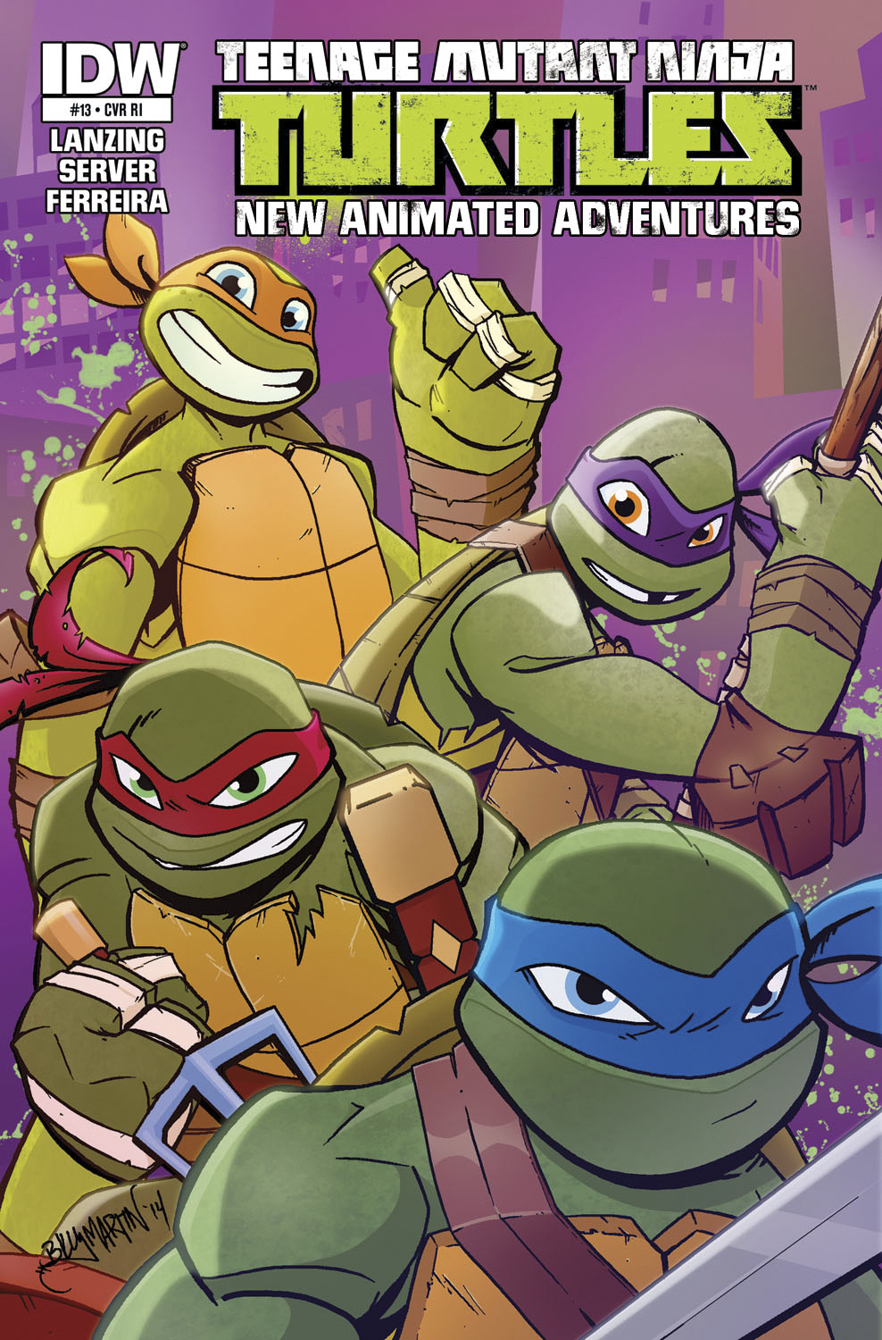 TMNT NEW ANIMATED ADVENTURES #13 10 COPY INCV