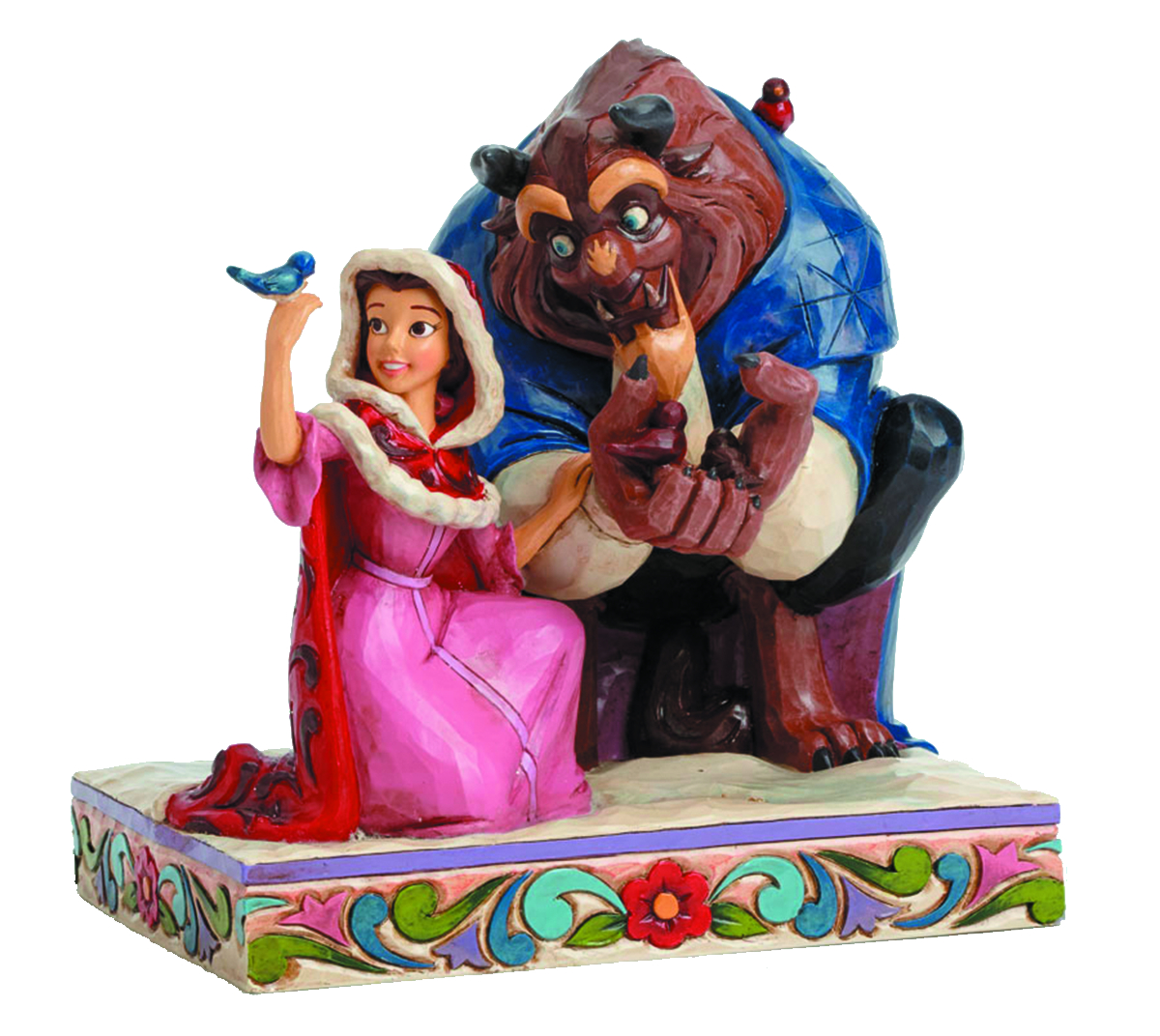 DISNEY TRADITIONS BELLE & THE BEAST IN WINTER