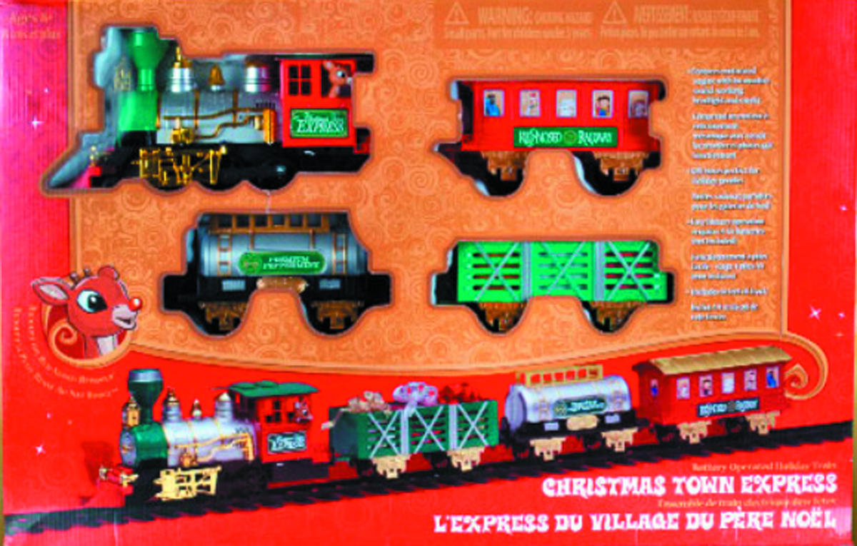 RUDOLPH CHRISTMAS EXPRESS O-SCALE TRAIN SET