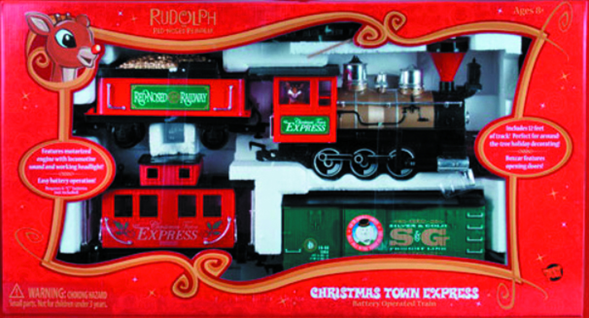RUDOLPH CHRISTMAS TOWN EXPRESS G-SCALE TRAIN SET