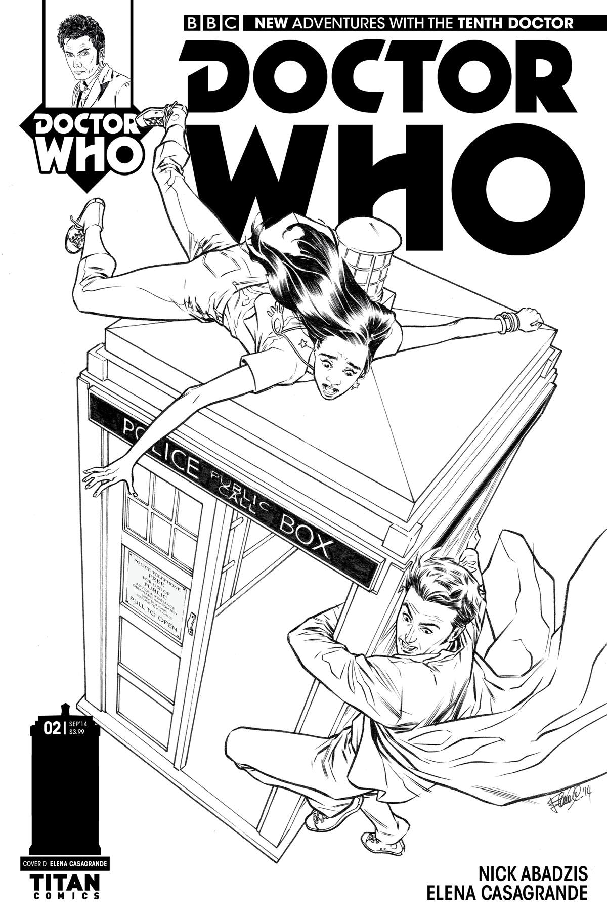 DOCTOR WHO 10TH #2 25 COPY INCV CASAGRANDE B&W