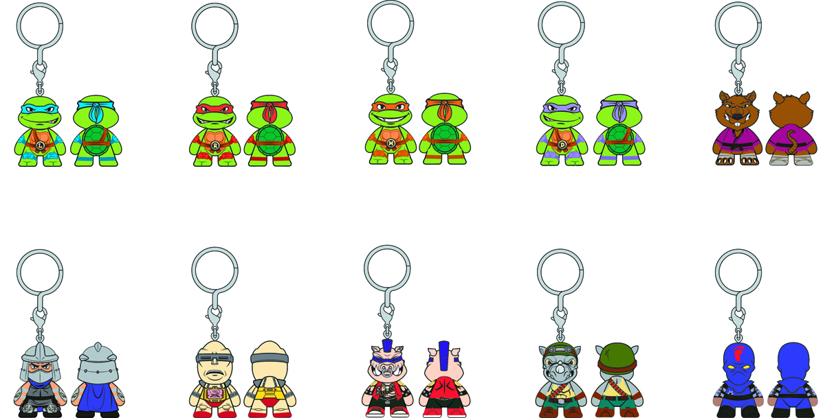 TMNT FIGURAL KEYCHAIN 24PC DS