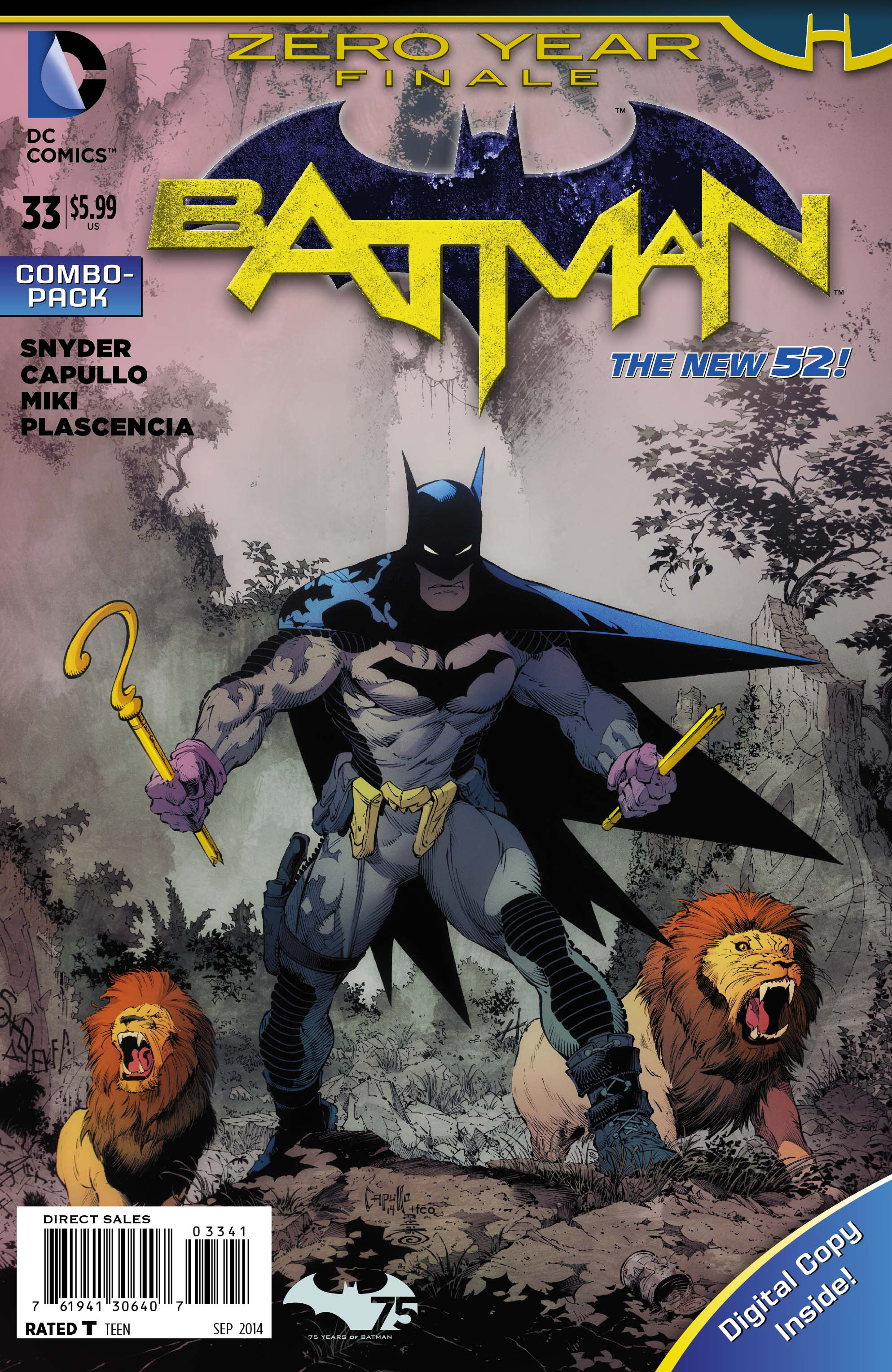 BATMAN #33 COMBO PACK (ZERO YEAR) (NOTE PRICE)