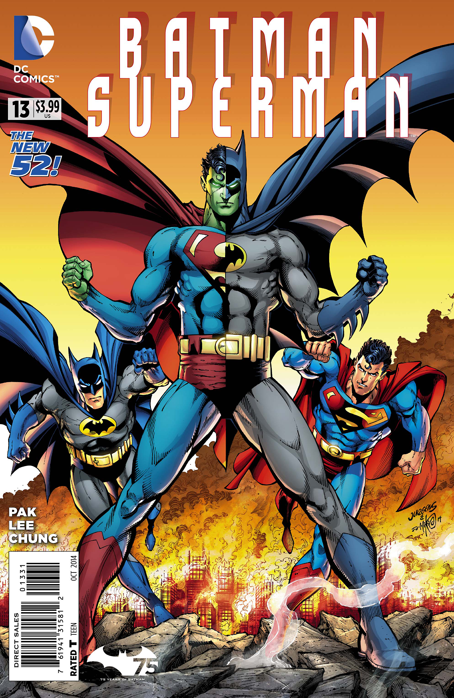 BATMAN SUPERMAN #13 BATMAN 75 VAR ED