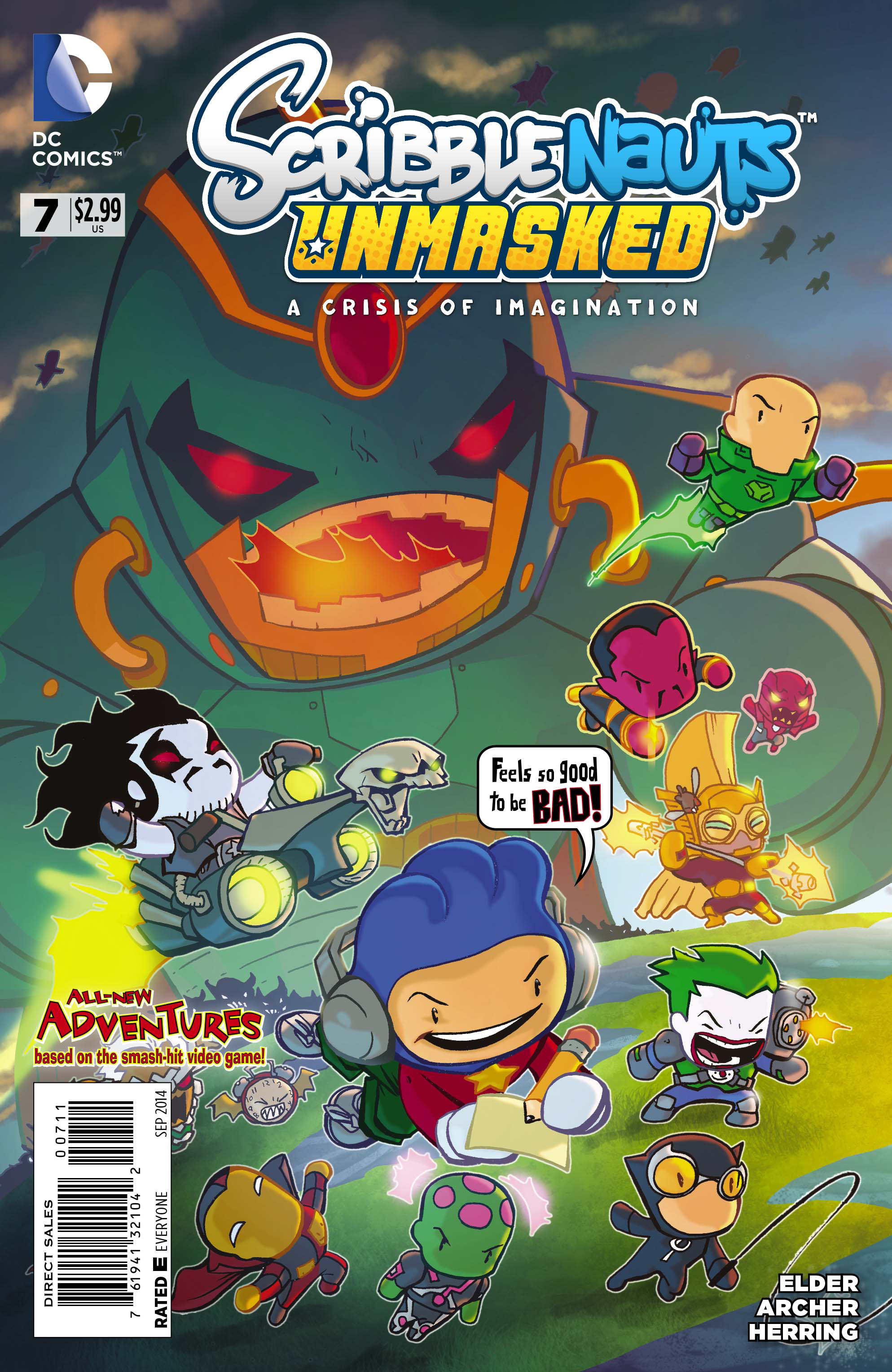 SCRIBBLENAUTS UNMASKED CRISIS OF IMAGINATION #7