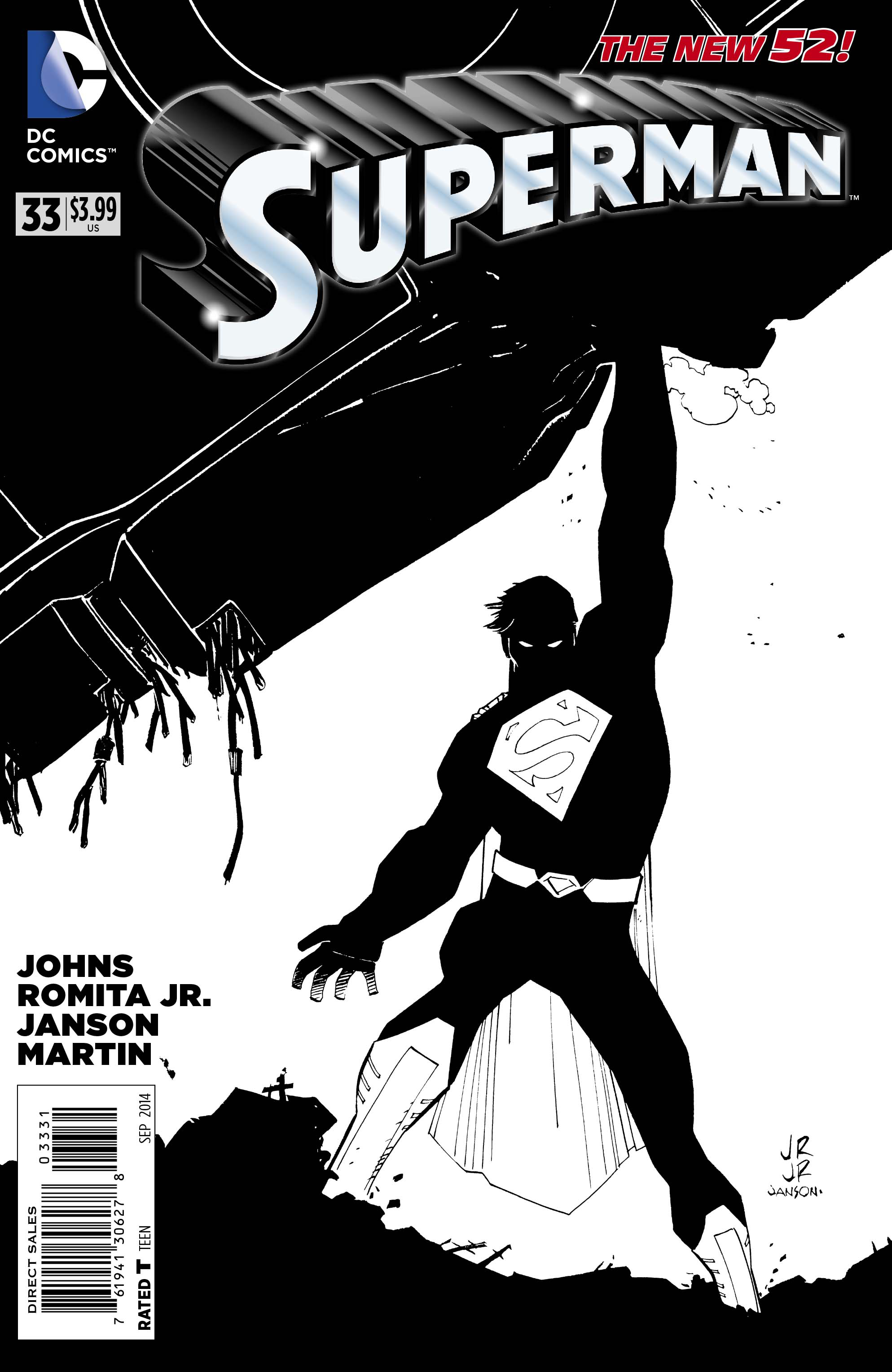 SUPERMAN #33 BLACK & WHITE VAR ED
