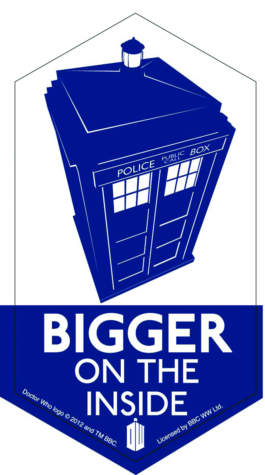 DOCTOR WHO BIGGER ON THE INSIDE 4IN STICKER