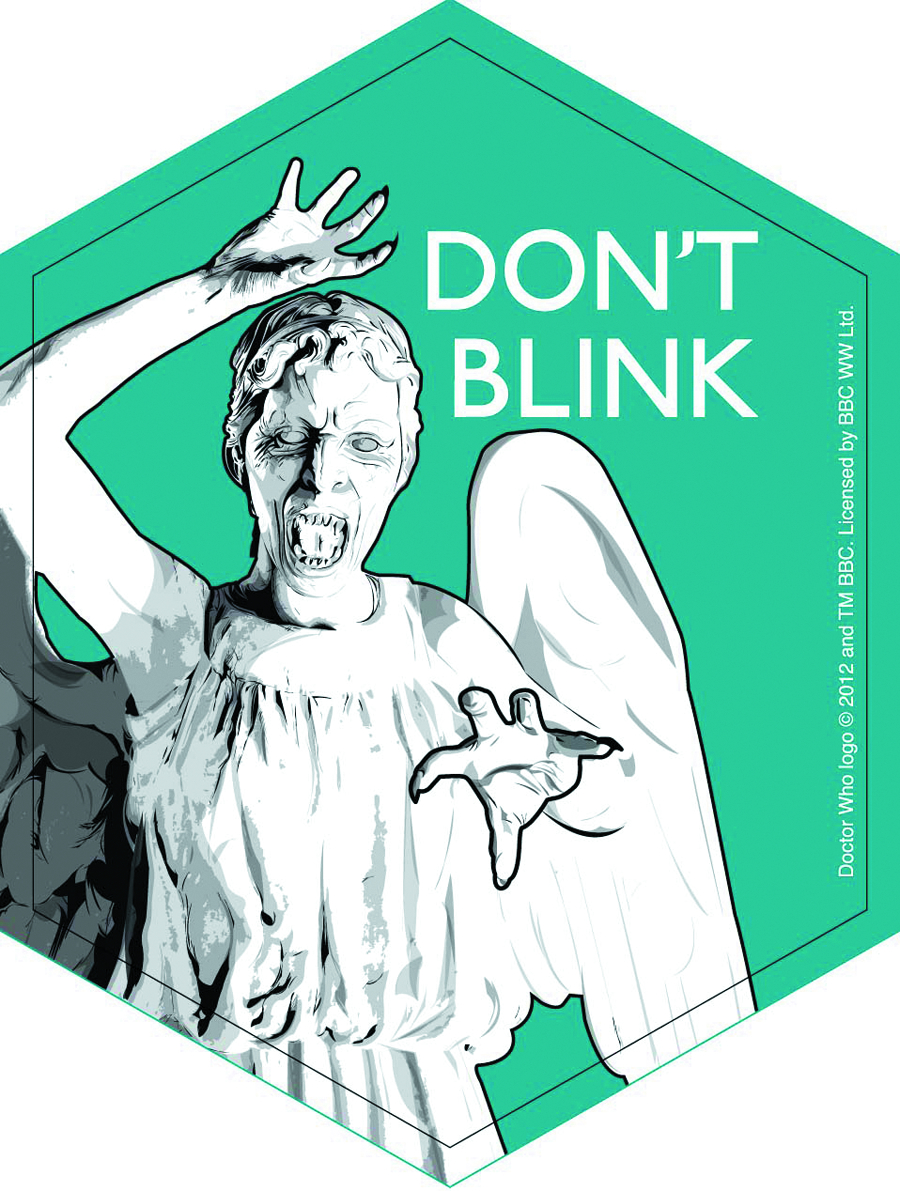 DOCTOR WHO DONT BLINK 4IN STICKER