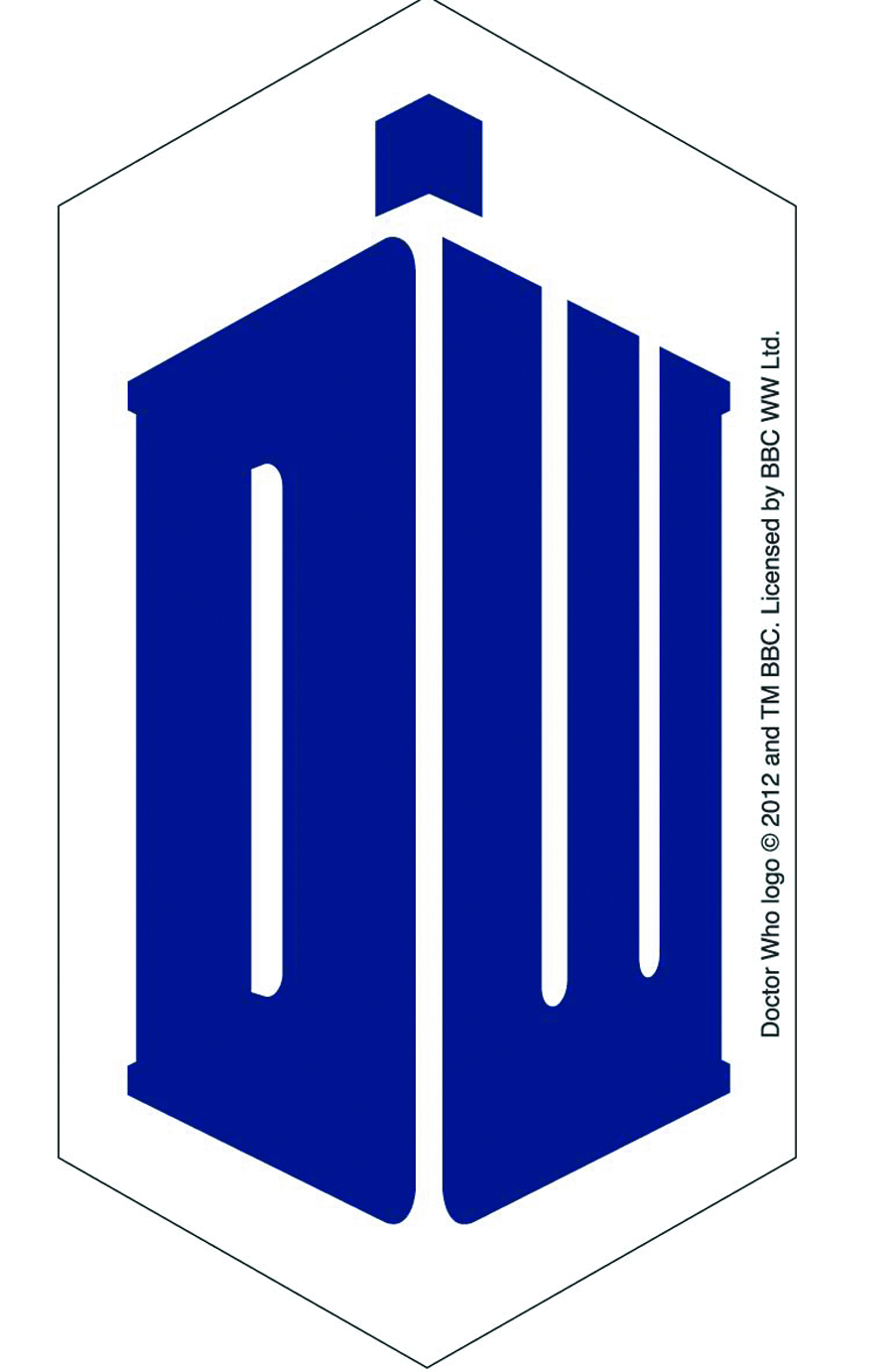 May142562 Doctor Who Dw Logo 4in Sticker Previews World