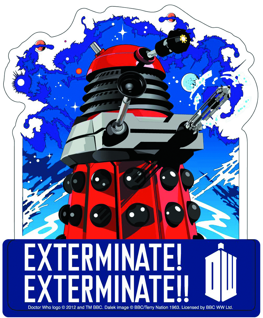 DOCTOR WHO EXTERMINATE 4IN STICKER
