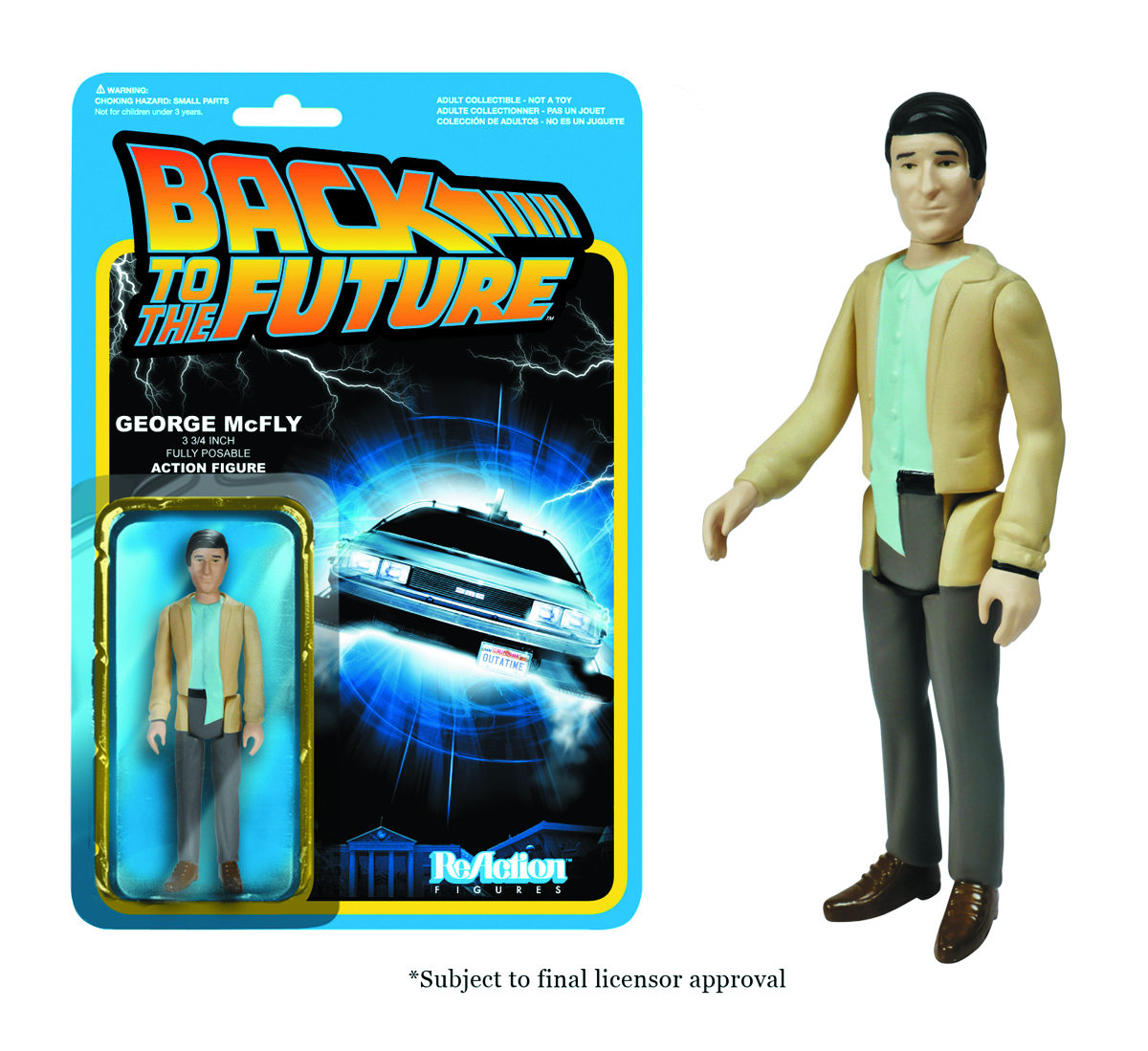 REACTION BTTF GEORGE MCFLY FIG