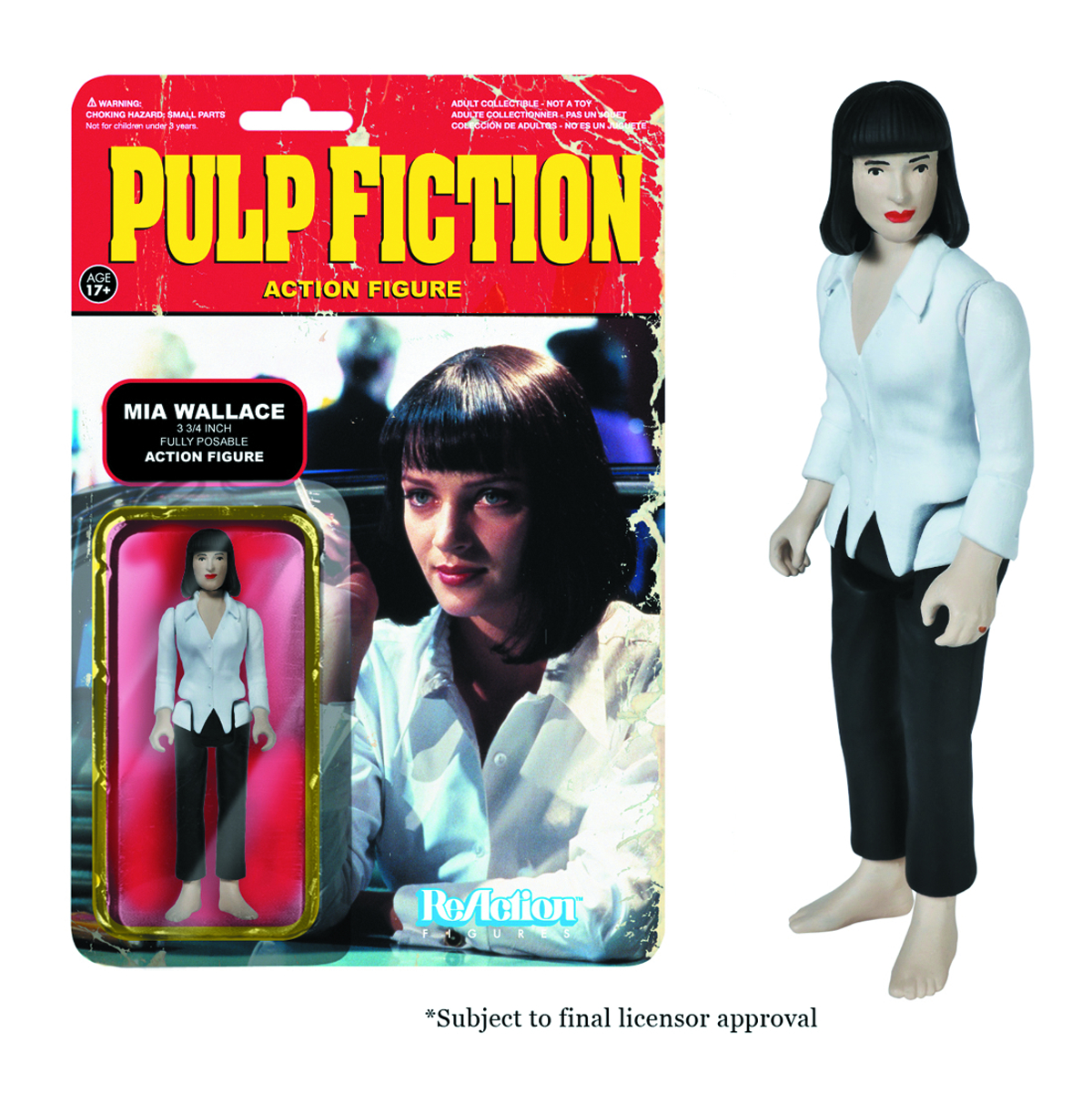 REACTION PULP FICTION MIA WALLACE FIG