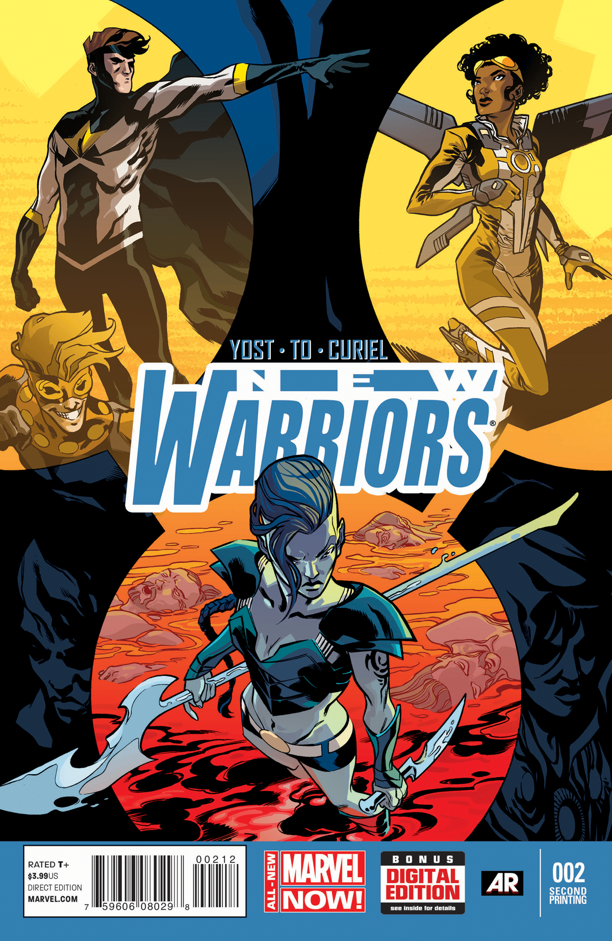 NEW WARRIORS #2 2ND PTG PEREZ VAR ANMN