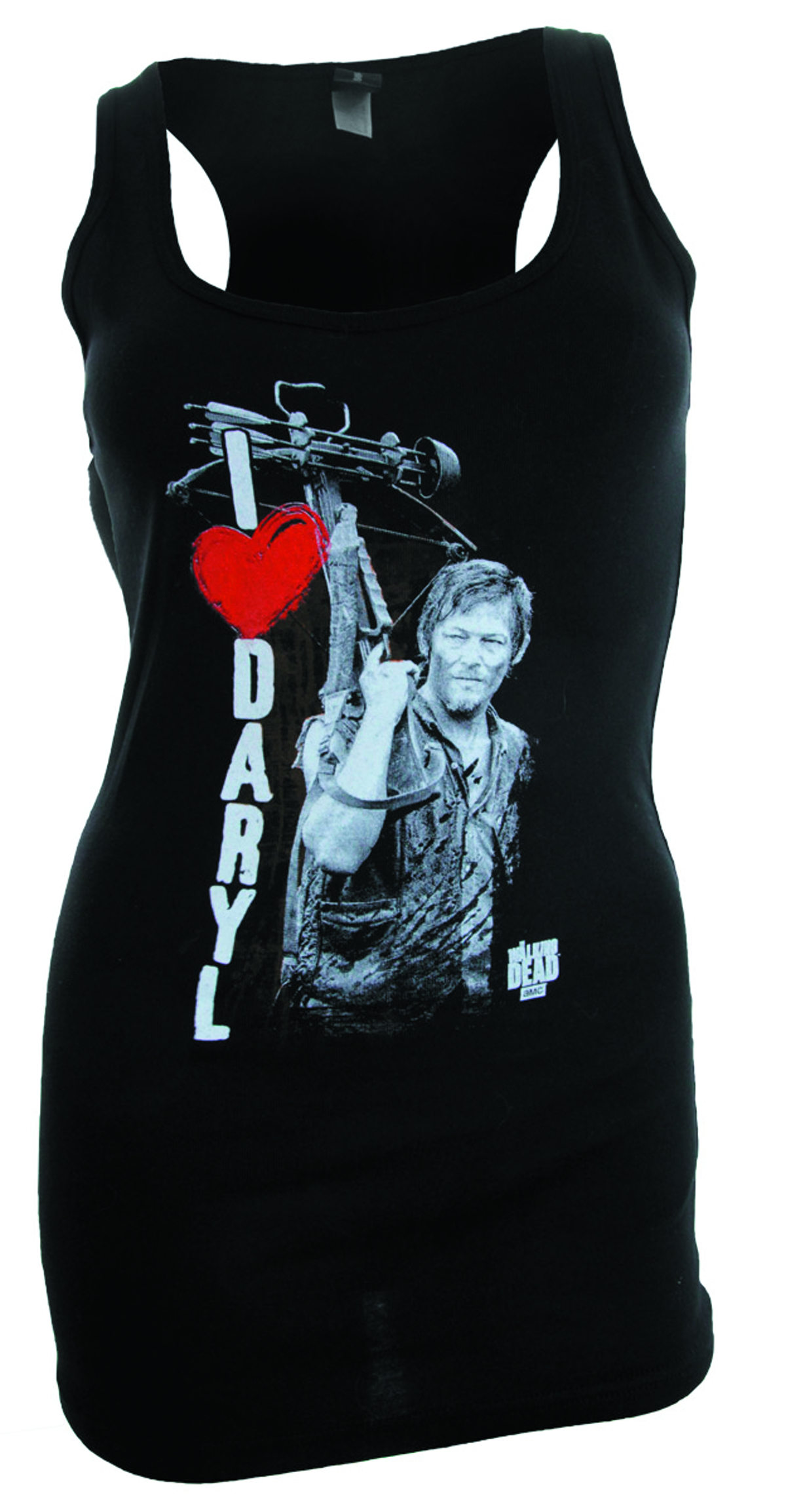 WALKING DEAD I HEART DARYL TANK DRESS T/S MED