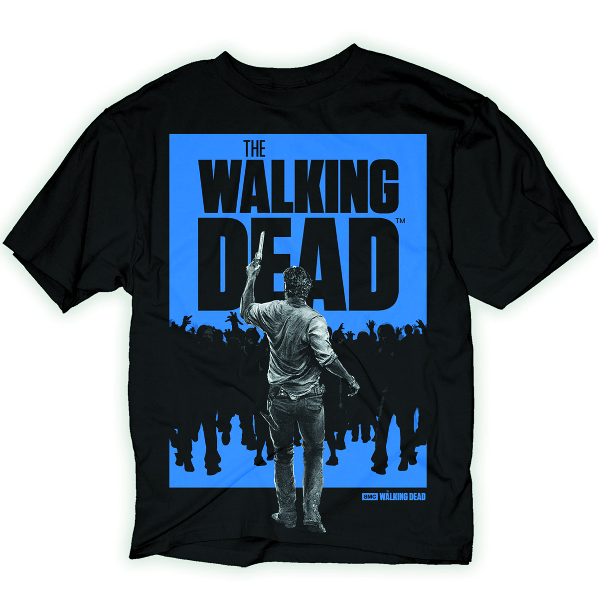 WALKING DEAD RICK WALKER PX BLK T/S LG