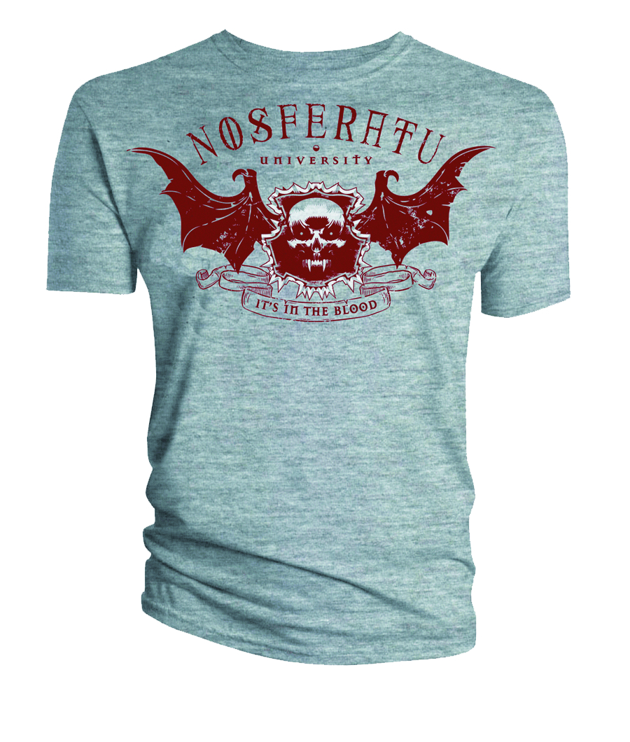NOSFERATU UNIVERSITY GRAY T/S MED