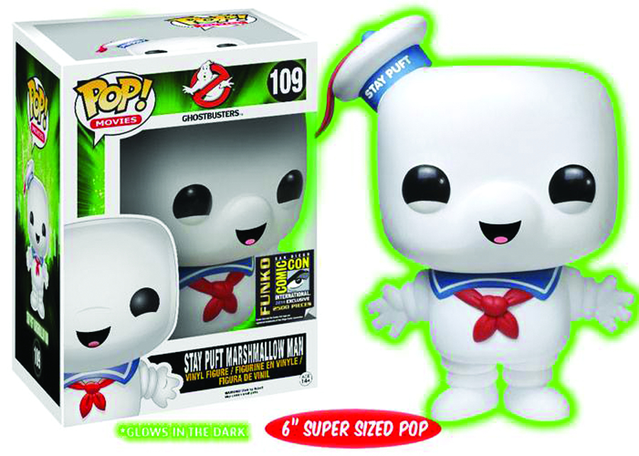 POP GHOSTBUSTERS STAY PUFT PX VIN FIG GID VER