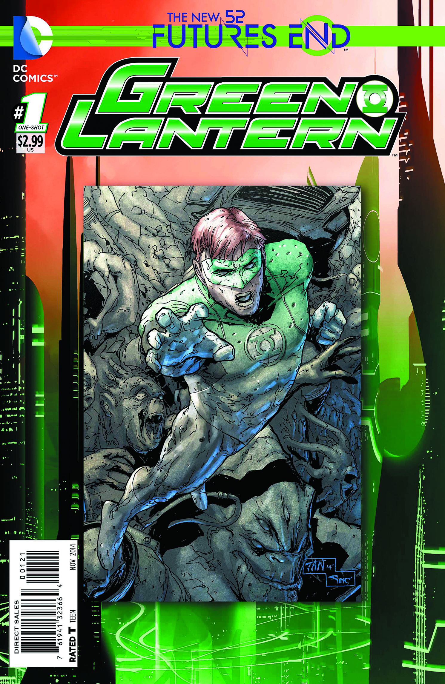 GREEN LANTERN FUTURES END #1 STANDARD ED
