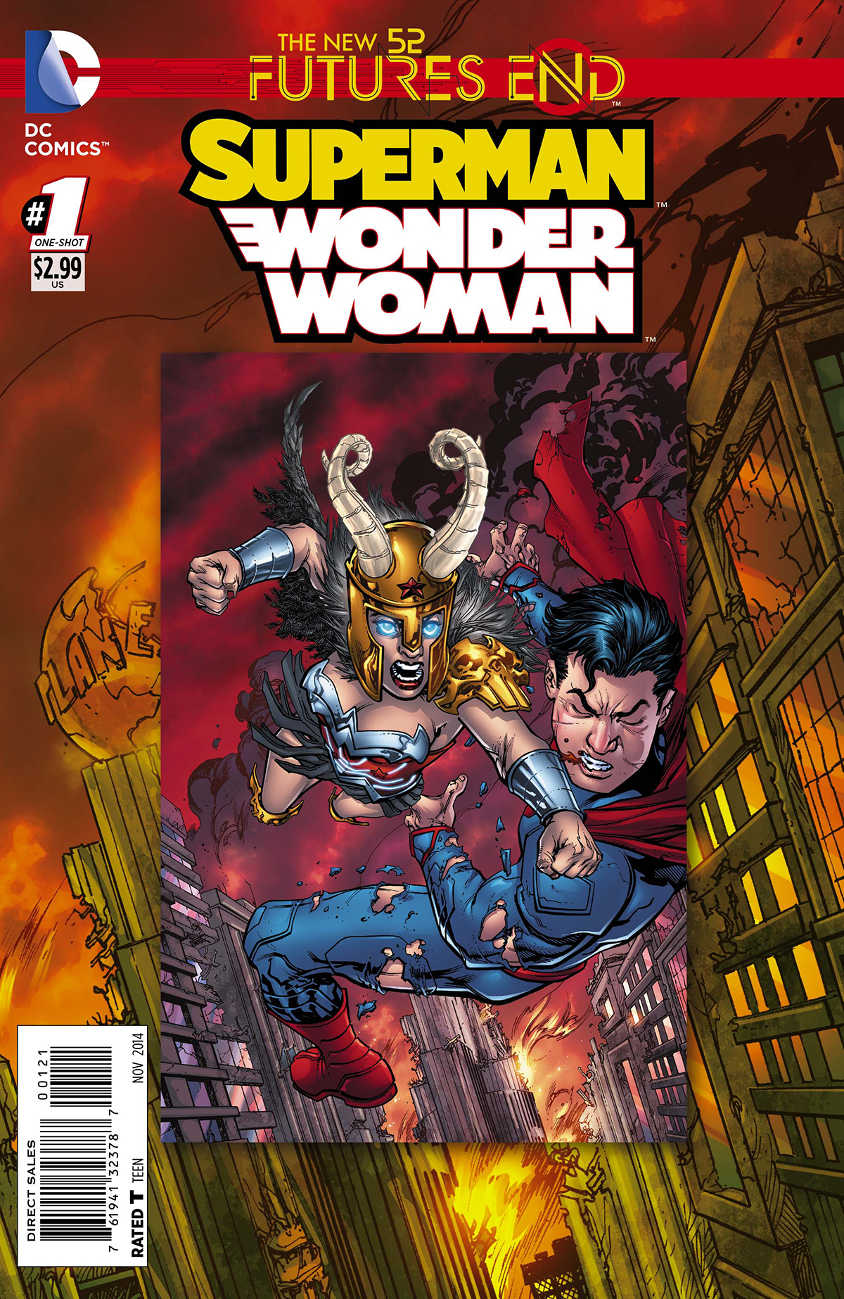 SUPERMAN WONDER WOMAN FUTURES END #1 STANDARD ED
