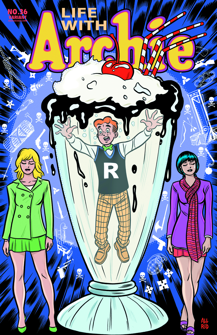 LIFE WITH ARCHIE COMIC #36 MIKE ALLRED CVR