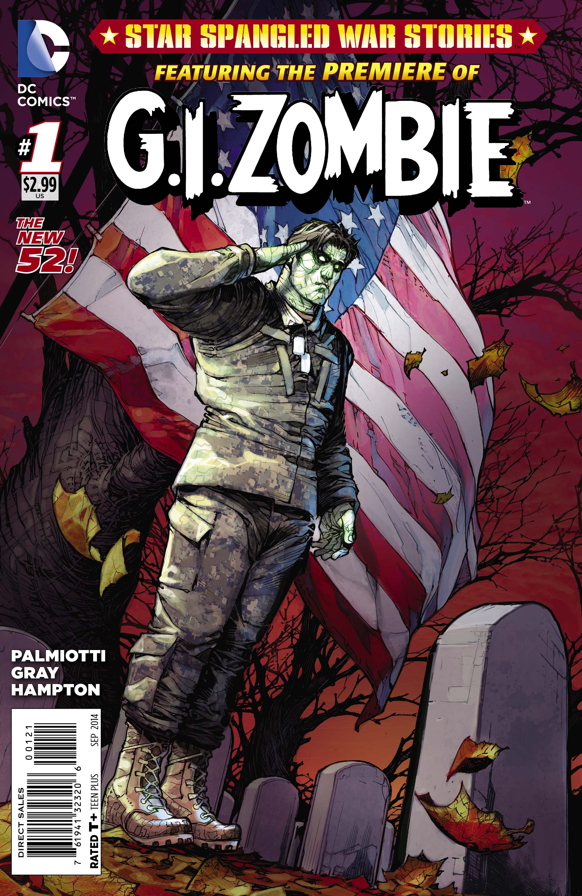 STAR SPANGLED WAR STORIES GI ZOMBIE #1 VAR ED