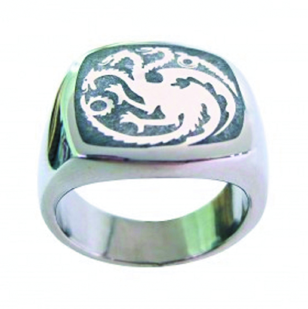 GAME OF THRONES TARGARYEN RING SZ 7