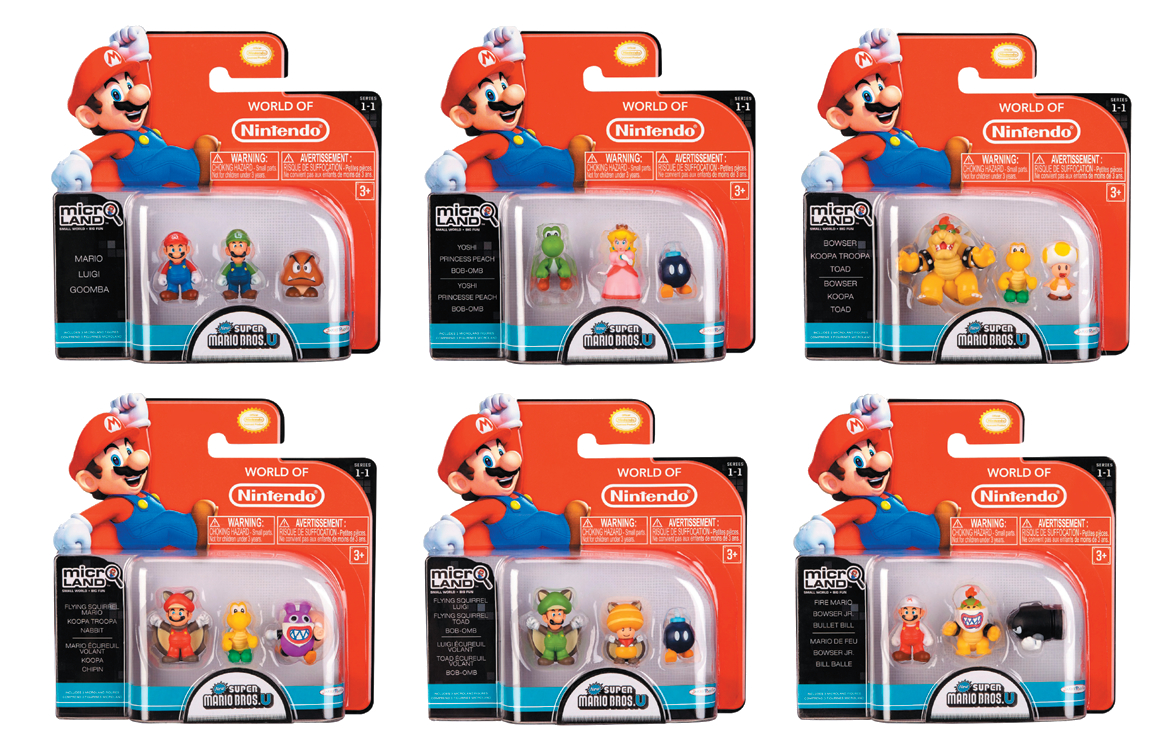 NINTENDO MARIO BROS U FIG 3-PACK WV 1 ASST