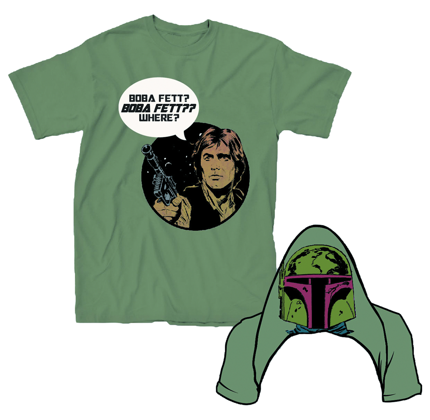STAR WARS BOBA FETT WHERE PX ARMY T/S LG