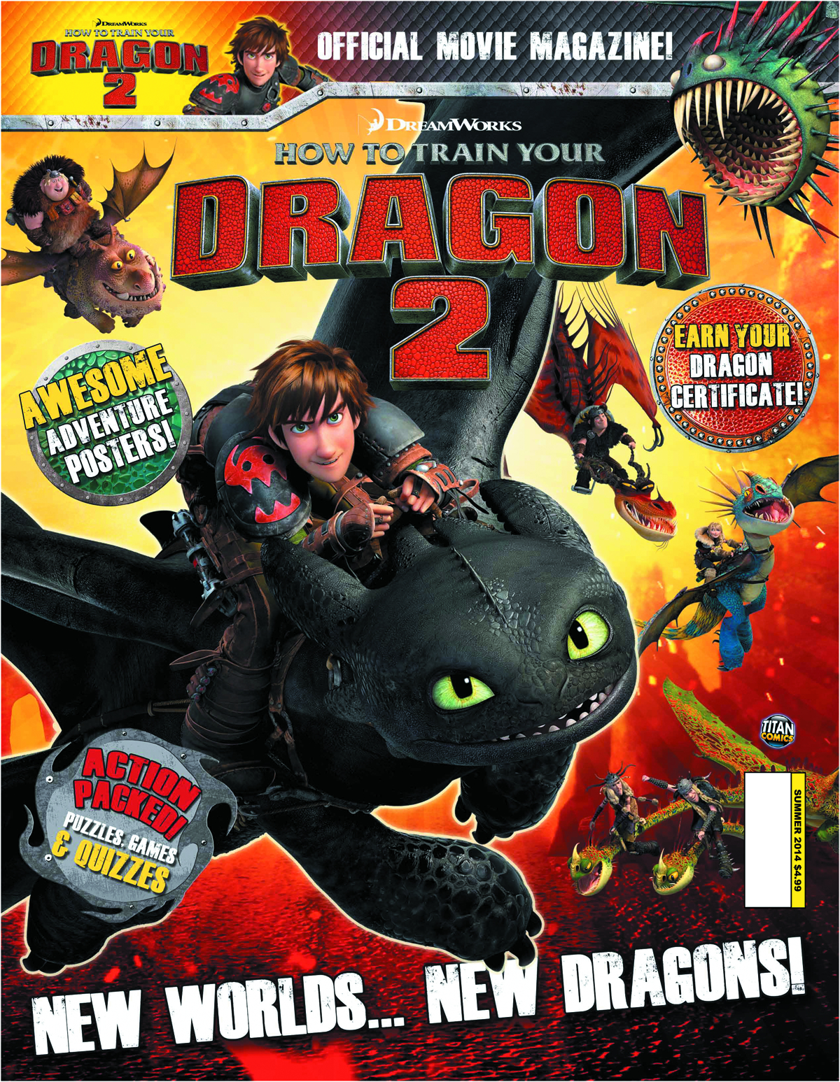 HOW TO TRAIN YOUR DRAGON 2 MOVIE MAGAZINE