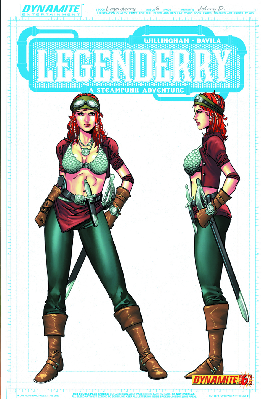 LEGENDERRY A STEAMPUNK ADV #6 (OF 7) 25 COPY CONCEPT INCV