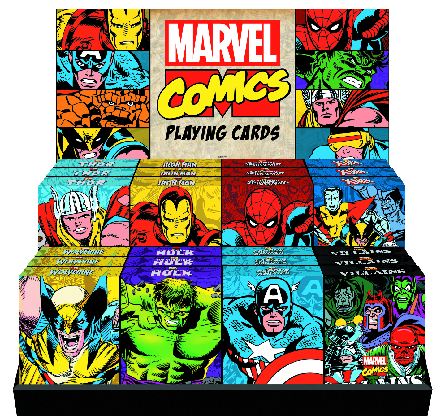 MARVEL COMICS II 24PC PLAYING CARD ASST