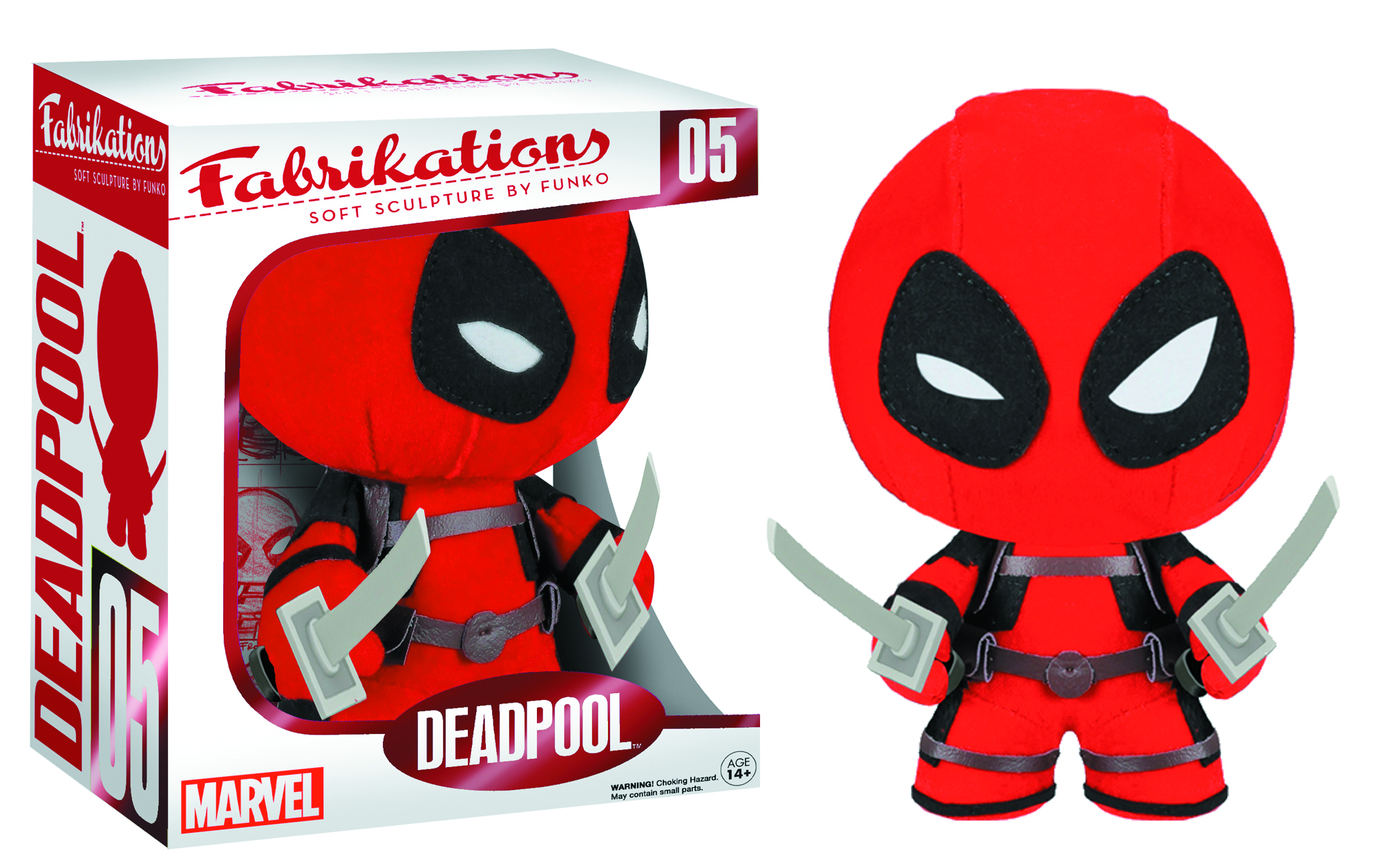 FABRIKATIONS DEADPOOL SOFT SCULPT PLUSH FIG