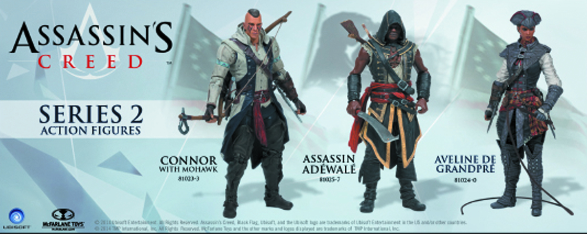 ASSASSINS CREED SERIES 2 CONNOR W/MOHAWK AF CS