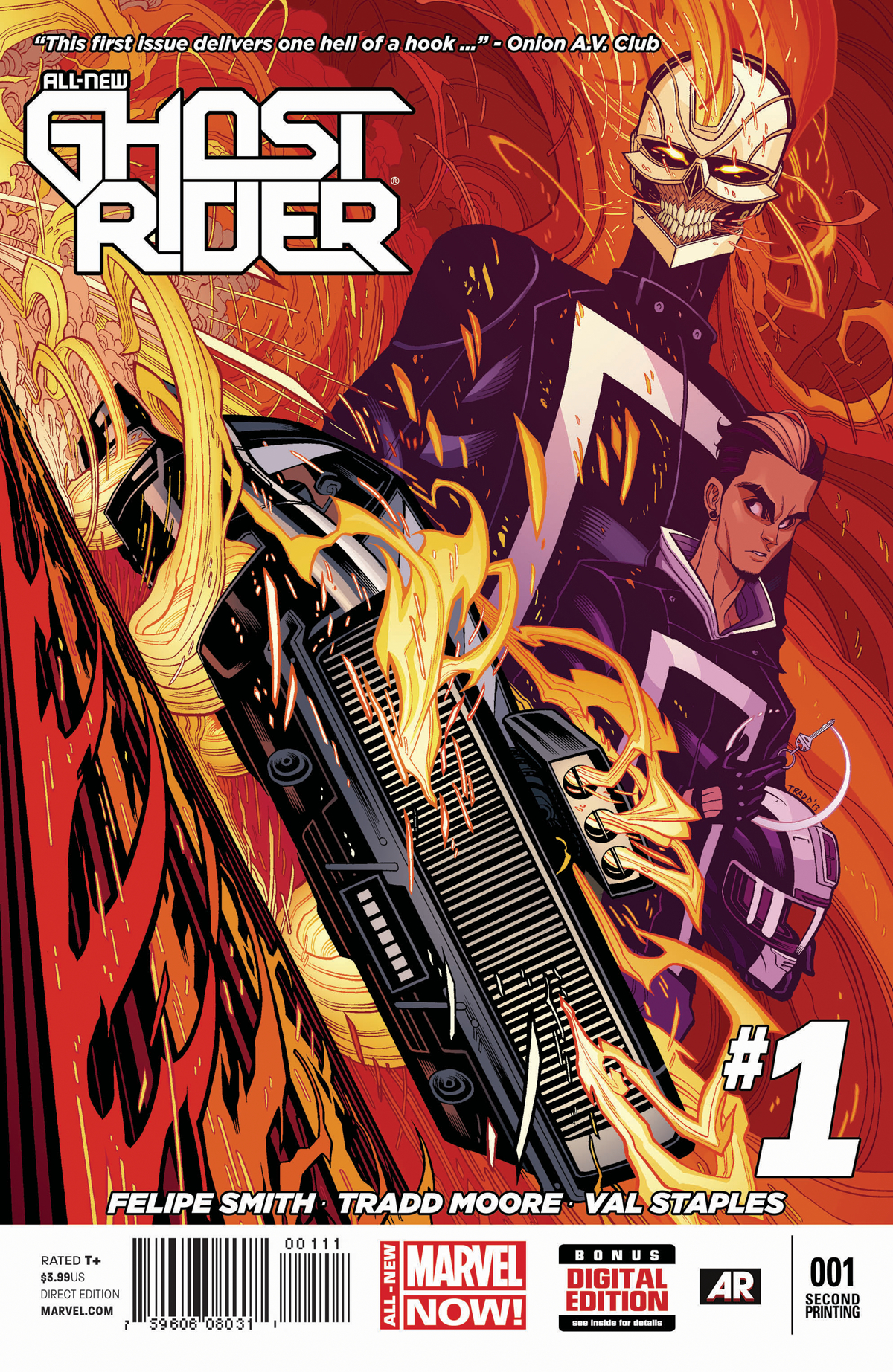 ALL NEW GHOST RIDER #1 2ND PTG MOORE VAR ANMN