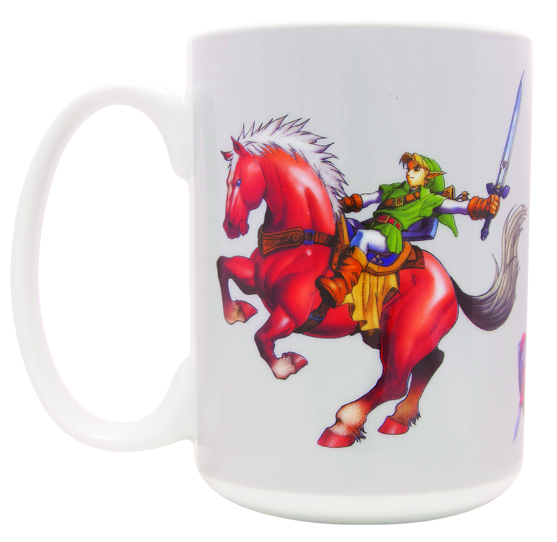 LEGEND OF ZELDA OCARINA OF TIME LINK ON EPONA MUG