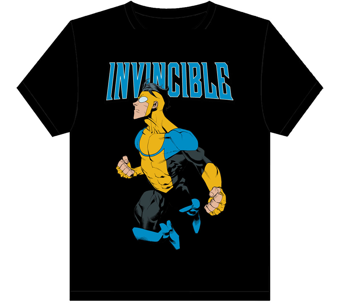 INVINCIBLE PROFILE BLACK T/S XXL