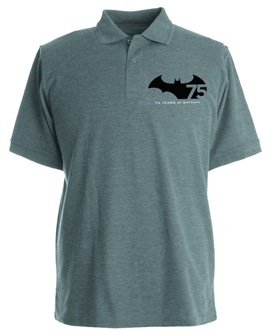 BATMAN 75TH ANNIVERSARY POLO LG
