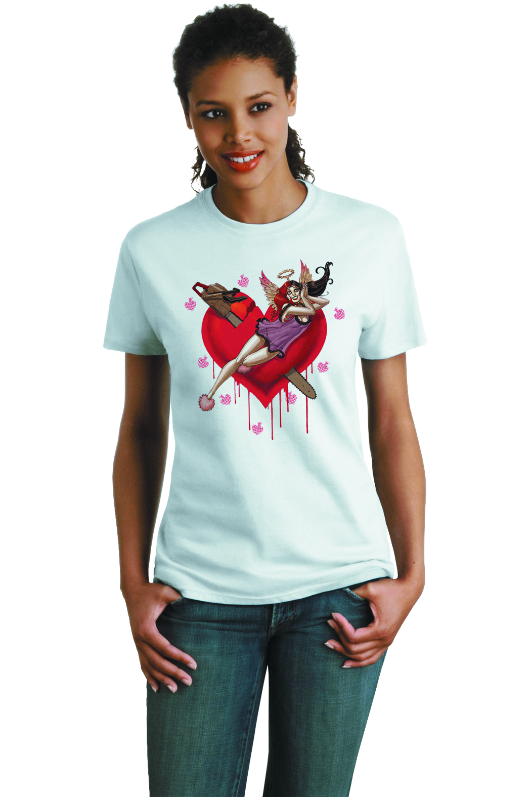 HARLEY QUINN HEARTBREAK YOUTH T/S MED